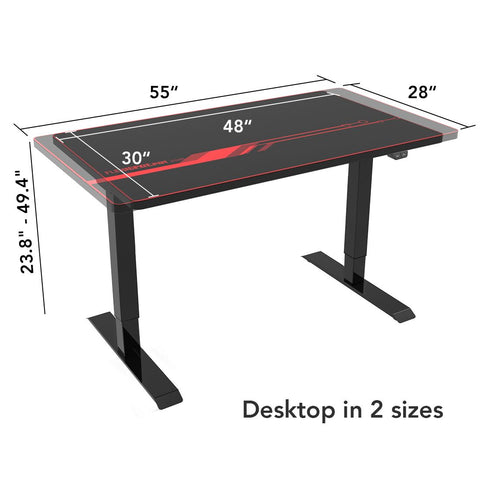 Flexispot Electric Height Adjustable Gaming Desk with Mouse Pad EC1/EN1