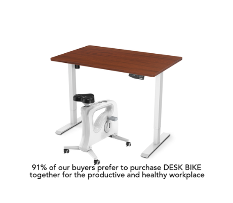 Image of Flexispot Favorite Combo: Standing Desk + Under Desk Bike