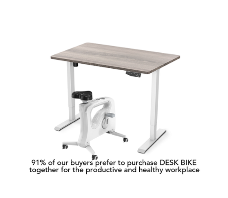 Image of Favorite Combo: Standing Desk + Under Desk Bike