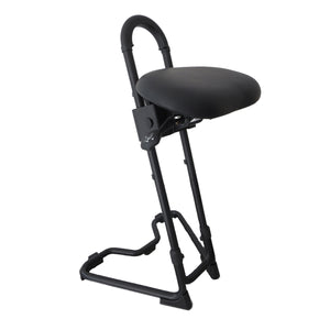 Ergodesktop STEYBIL Sit-Stand Stool with Black Leatherette