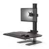 Innovativeworkspaces Winston Workstation® Single Freestanding Sit-Stand