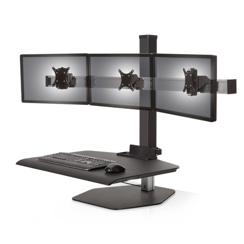 Image of Innovative Winston Workstation® Triple Freestanding Sit-Stand
