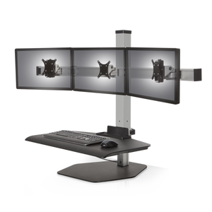 Innovative Winston Workstation® Triple with Compact Work Surface
