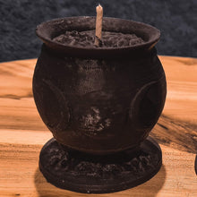 Load image into Gallery viewer, Triple Moon Goddess Witches Cauldron Soy Candle