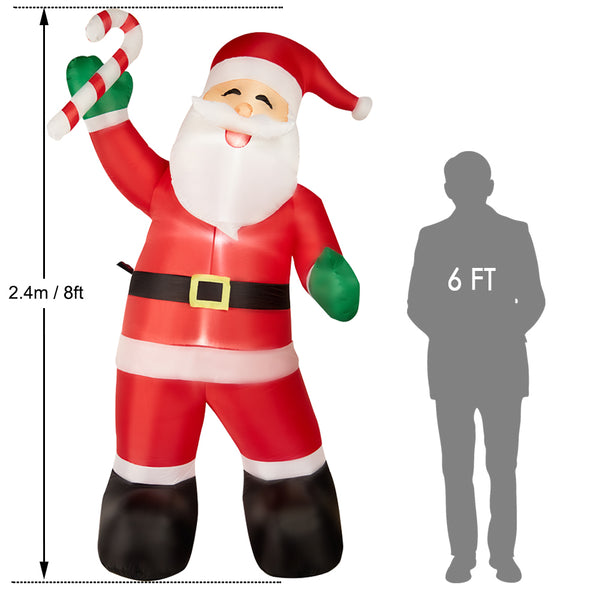SUPERJARE 8 FT Christmas Inflatable Santa Claus