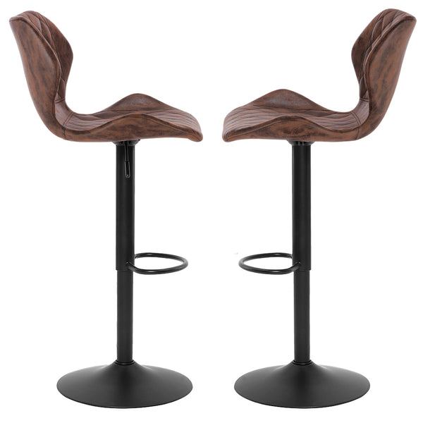 SUPERJARE Set of 2 Adjustable Bar Stools