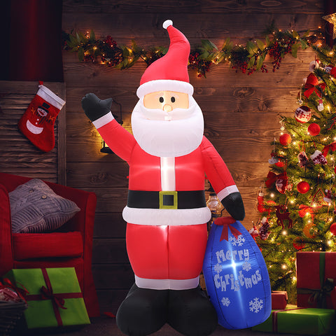 SUPERJARE 9 Ft Christmas Inflatable Santa Claus