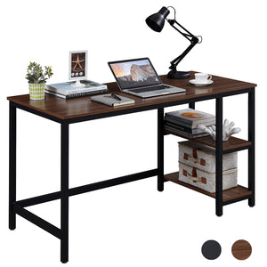 SUPERJARE 55 Inches Computer Desk, Brown 7913Z