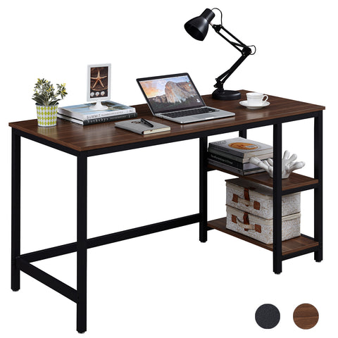 SUPERJARE 55 Inches Computer Desk, Brown