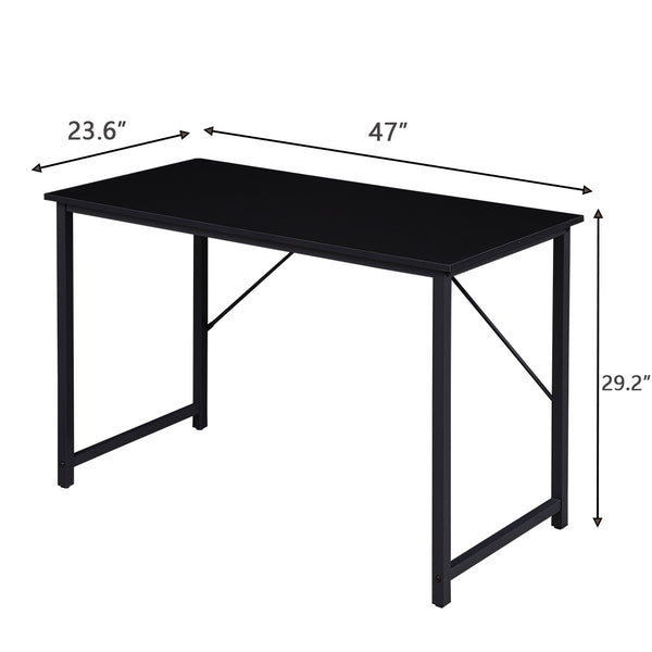 SUPERJARE 47 Inches Computer Desk, Black