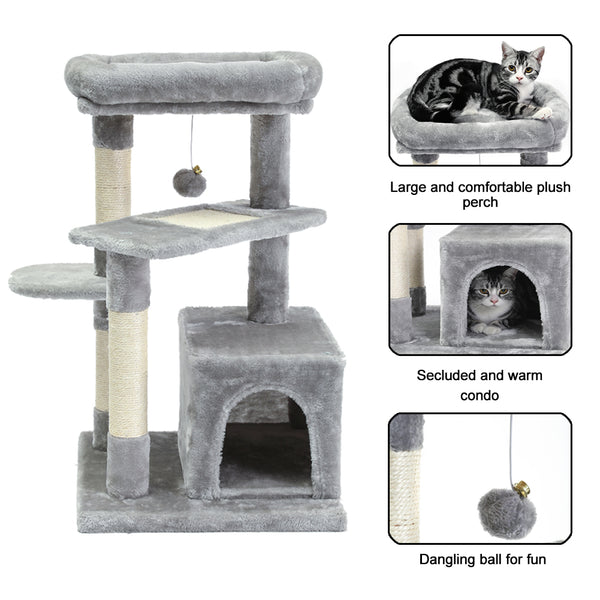 SUPERJARE Cat Tree, Gray - 6301H