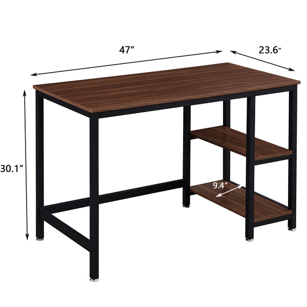 SUPERJARE 47 Inches Computer Desk, Brown 7912Z