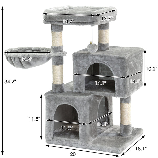 SUPERJARE Cat Tree, Gray