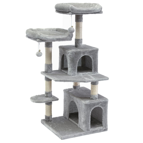 "SUPERJARE 48"" Cat Tree Tower, Gray"