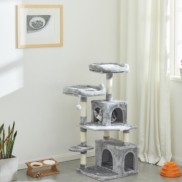 "SUPERJARE 48"" Cat Tree Tower, Gray - 6303H"
