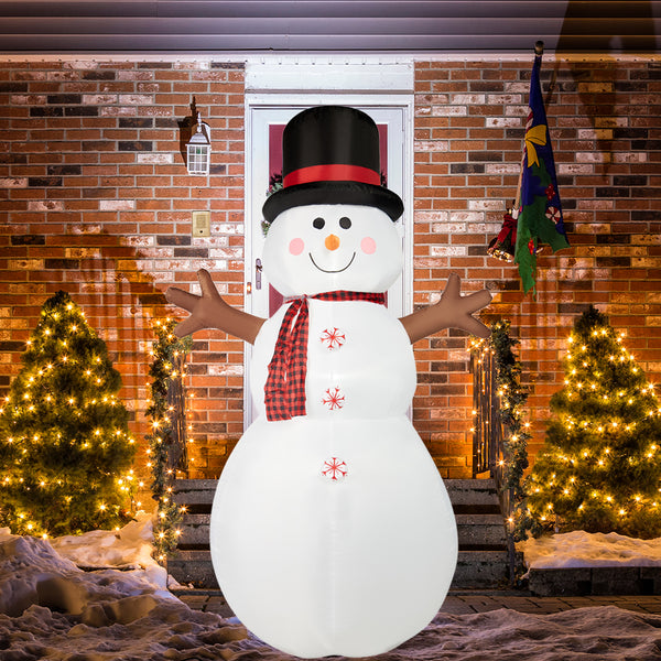 SUPERJARE 8 Ft Christmas Inflatable Snowman