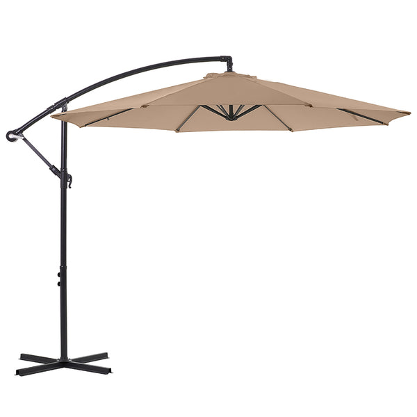 10ft Offset Patio Umbrella, Beige