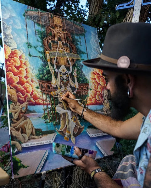 WIP at Sonic Bloom Festival Colorado Harrison Crawford Art