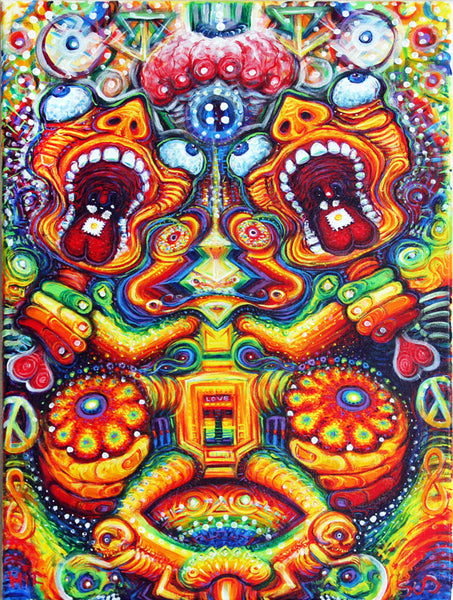 Mifsudvisions Full Spectrum Hallucinations Painting
