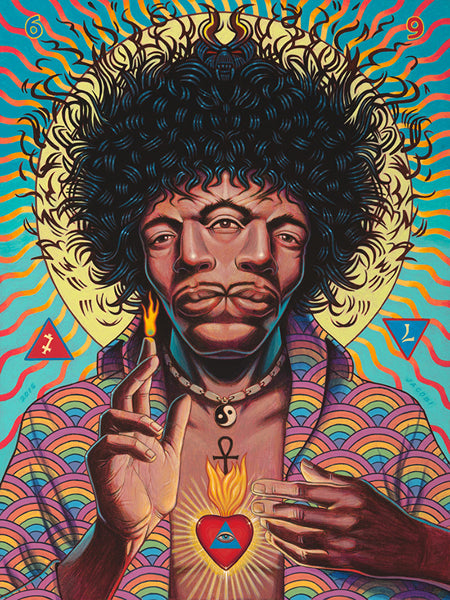Rick Jacobi Art The Messenger Painting Jimi Hendrix