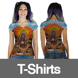 Women's All Over Print TShirts VNeck Artist Collection Infinite Bit