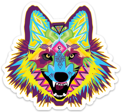 Alpha Wolf Vinyl Sticker