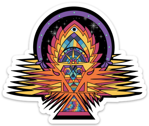Tribal Fire Vinyl Sticker