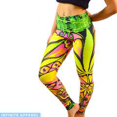 Cannabis Love Yoga Leggings