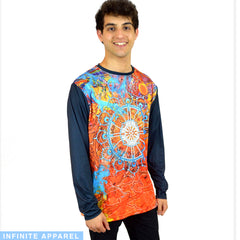 Buddhist Wheel Long Sleeve TShirt