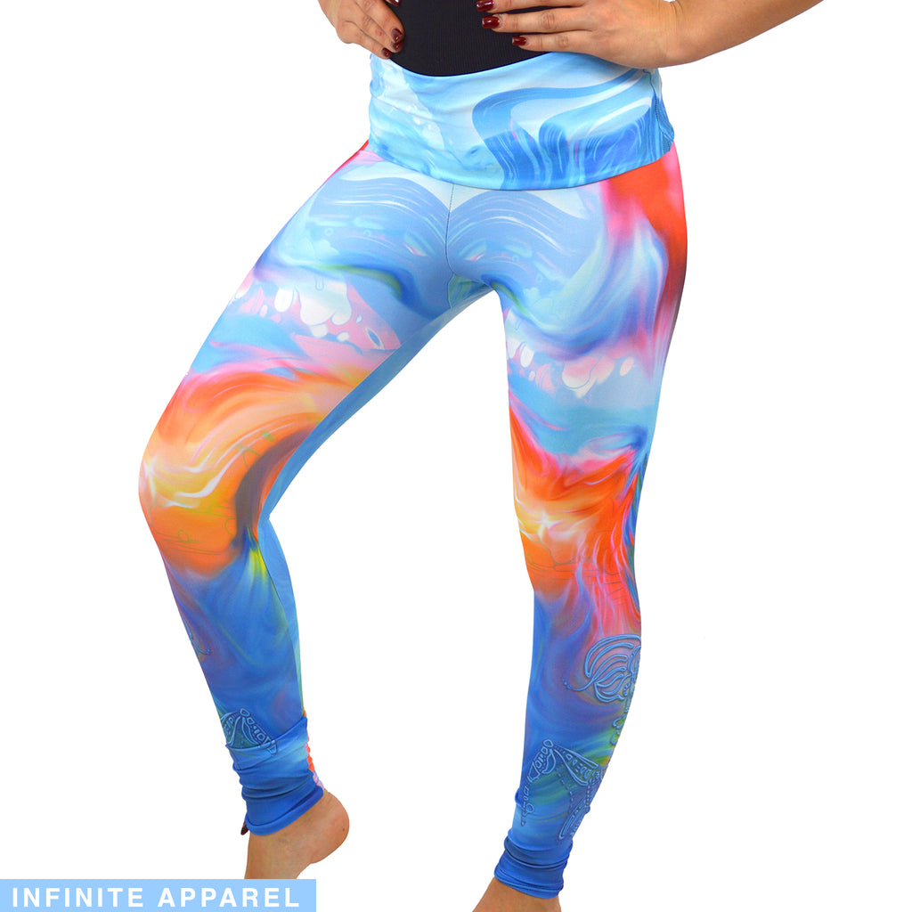 Moment of Wave Movement Yoga Leggings