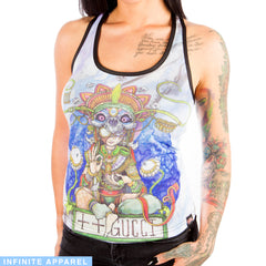 Double Barreled Double Speak Women's Racerback Tank Top