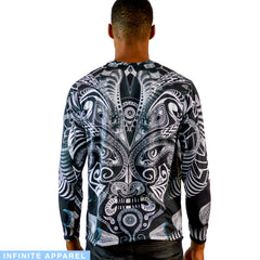 Full Moon Hypnotica Men's Long Sleeve Shirt