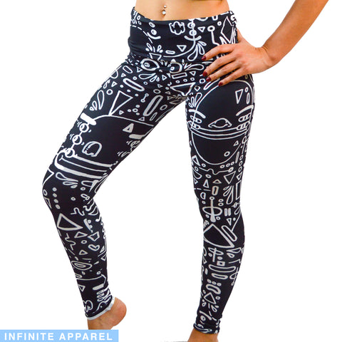 Schematic Yoga Leggings