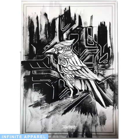 Black and White Bird Art Print