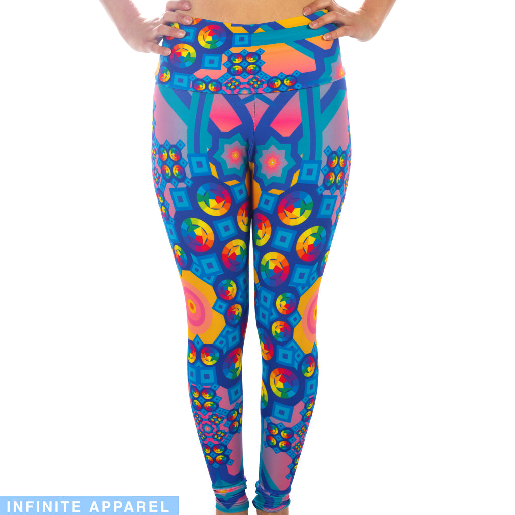 Rainbow Sunset Yoga Leggings