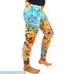 Underwater Hippie Yoga Leggings