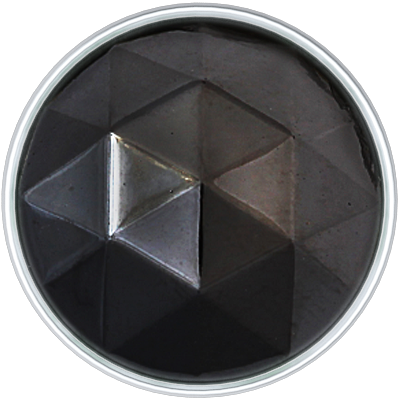 Black Diamond in Silver Setting