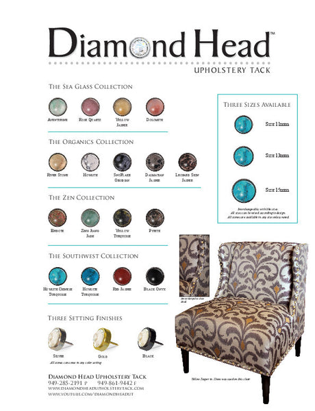 Diamond Head Natural Stone Collection Sample Board