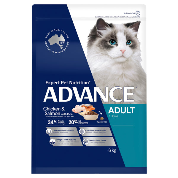 ADVANCE™ Adult Dry Cat Food Chicken & Salmon with Rice 6kg