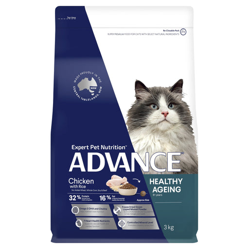 ADVANCE™ Healthy Ageing Dry Cat Food Chicken & Rice 3kg