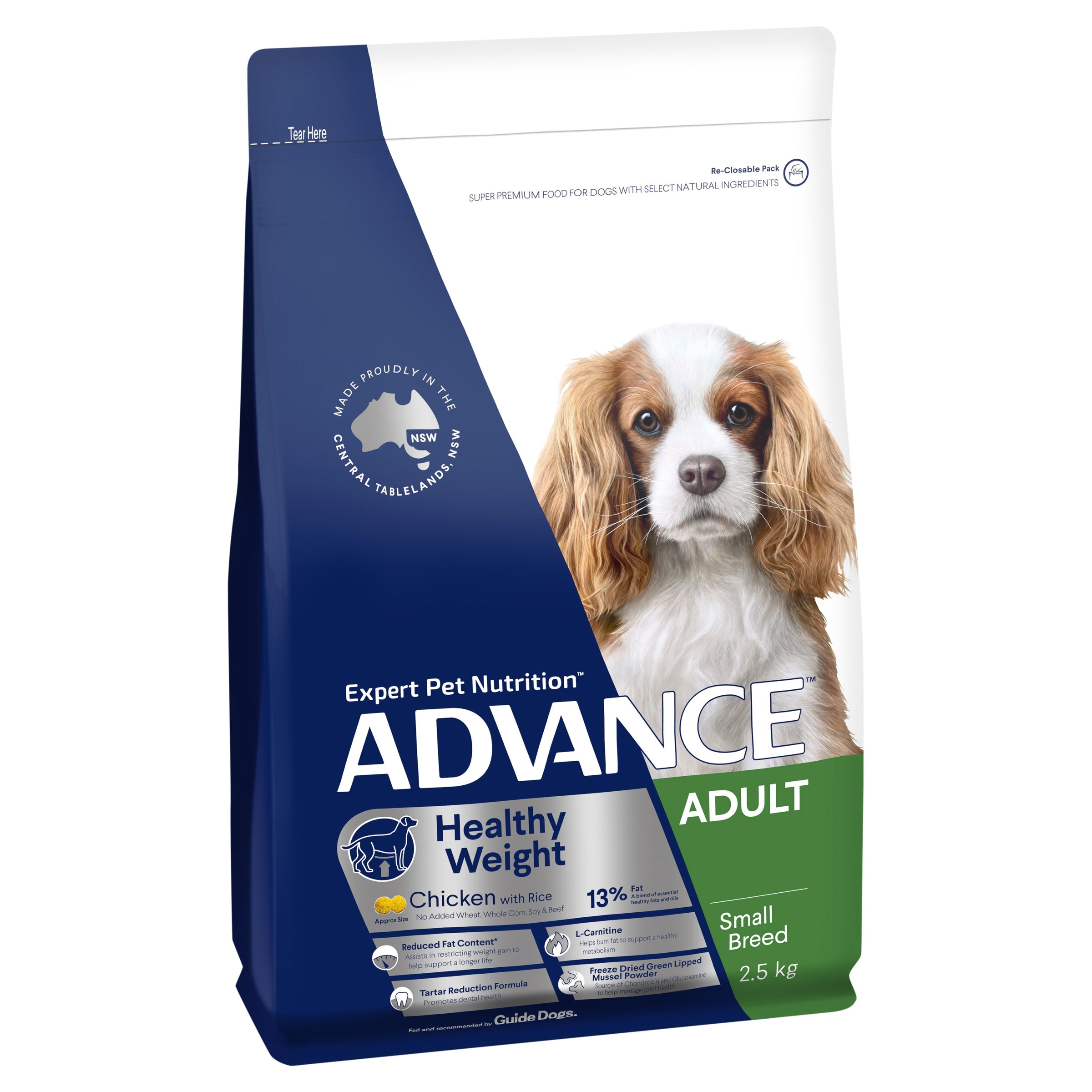 ADVANCE™ Healthy Weight Adult Small Breed Chicken with Rice Dry Dog Food 2.5kg