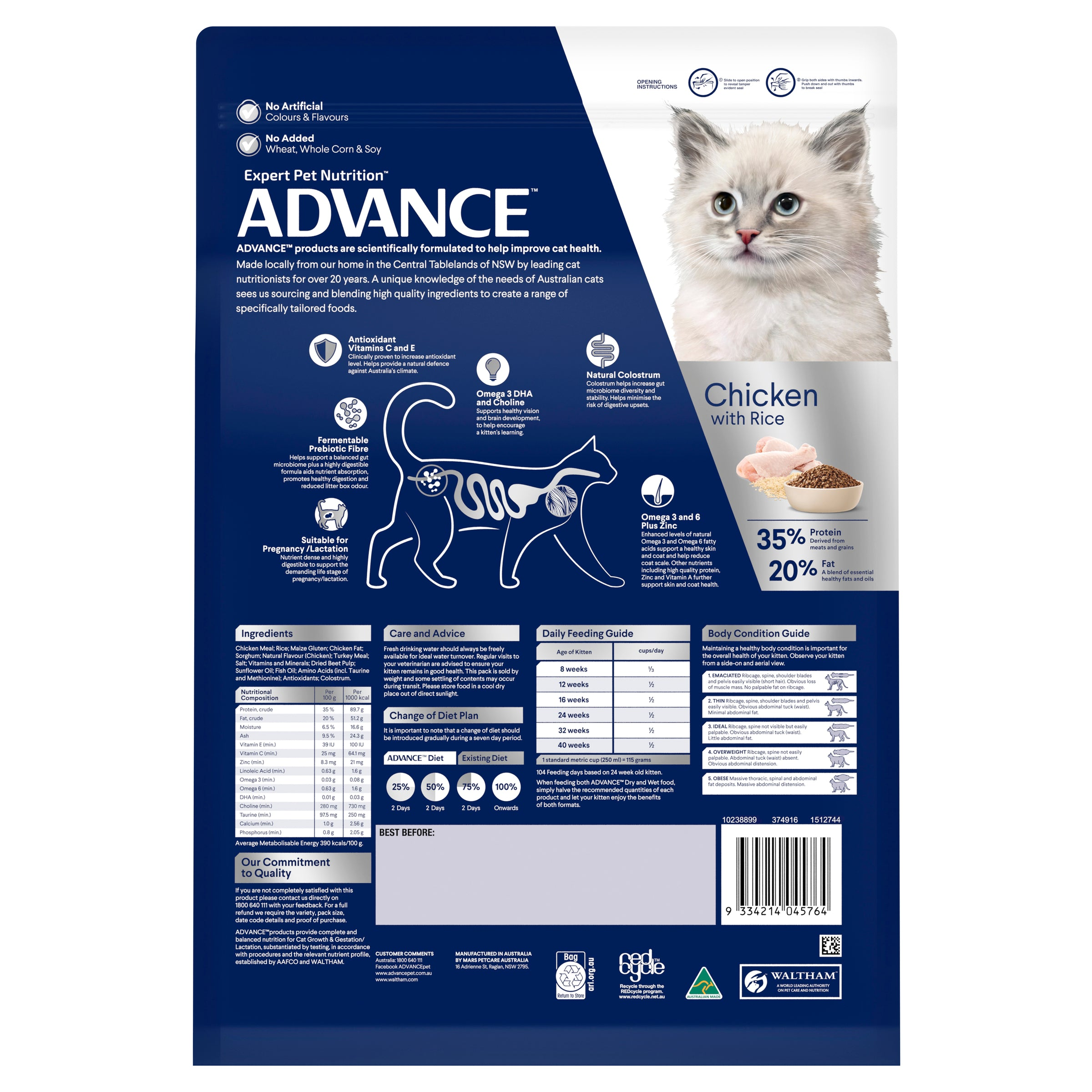 ADVANCE™ Kitten Growth Dry Cat Food Chicken with Rice 6kg