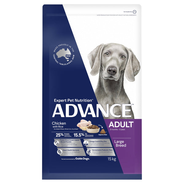 ADVANCE™ Adult Large Breed Chicken with Rice Dry Dog Food 15kg