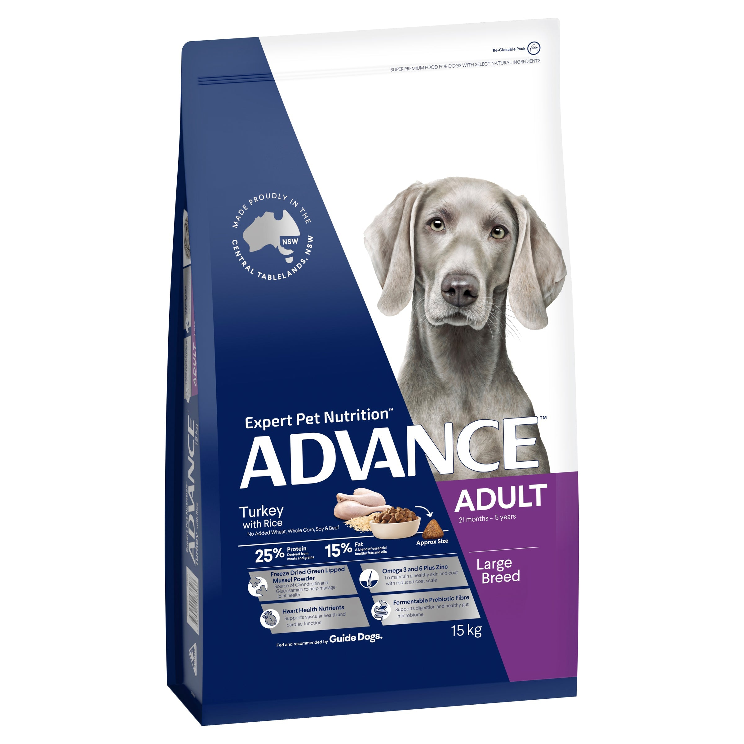 ADVANCE™ Adult Large Breed Turkey with Rice Dry Dog Food 15kg