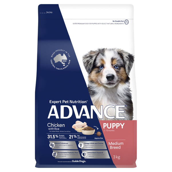 ADVANCE™ Puppy Growth Medium Breed Chicken with Rice Dry Dog Food 3kg