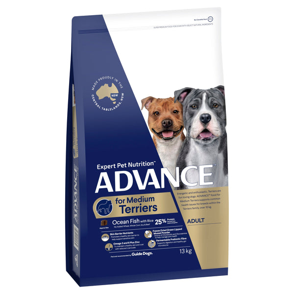 ADVANCE™ Terriers Adult Medium Breed Ocean Fish with Rice Dry Dog Food 13kg