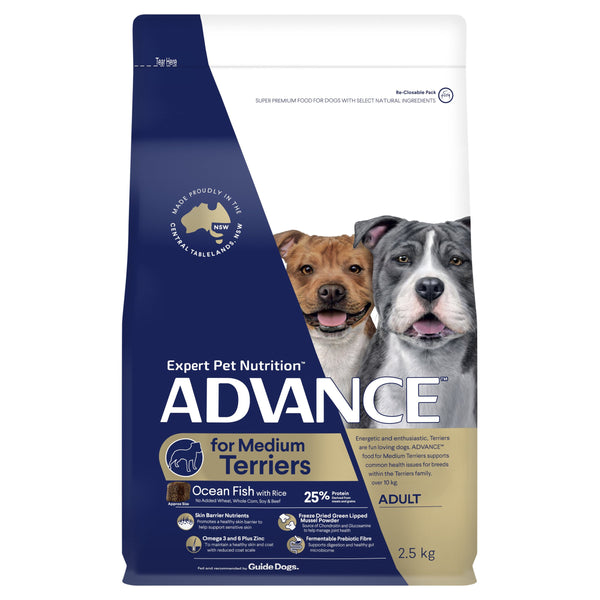 ADVANCE™ Terriers Adult Medium Breed Ocean Fish with Rice Dry Dog Food 2.5kg