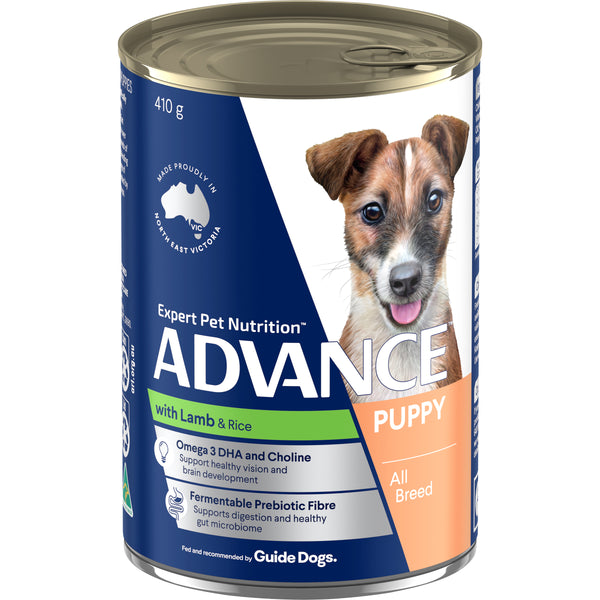 ADVANCE™ Puppy Plus Growth Lamb and Rice Wet Dog Food 12x410g Cans