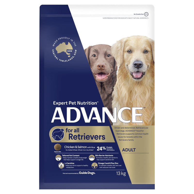 ADVANCE™ Retrievers Adult Large Breed Chicken & Salmon with Rice Dry Dog Food 13kg