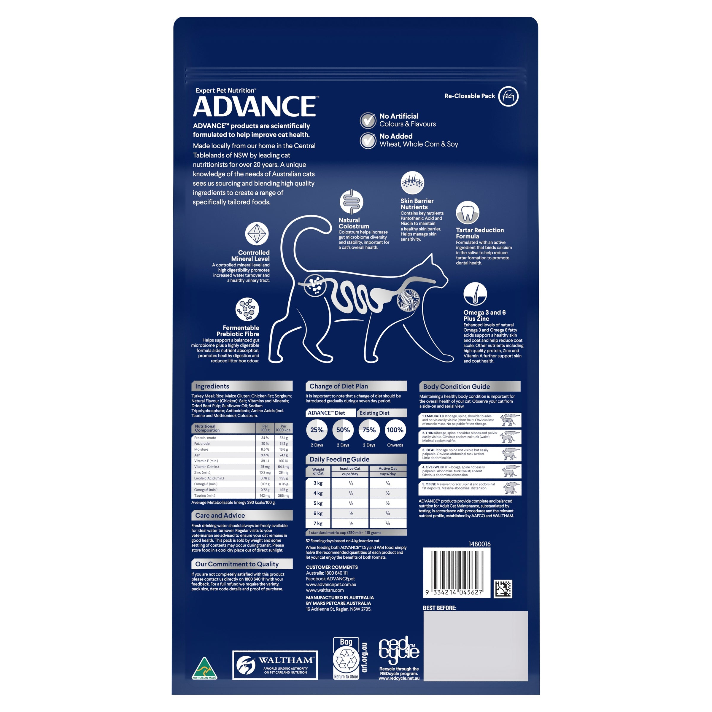 ADVANCE™ Sensitive Skin & Digestion Adult Dry Cat Food Turkey with Rice 2kg